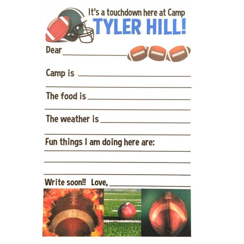 Football Fill-In Notecards