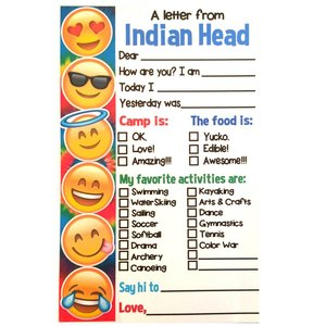 Emoji Check Box Camp Notecards