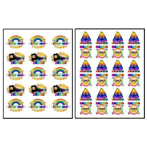 Emoji Rainbow Stickers