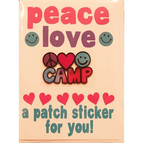 Peace Love Camp Patch Card