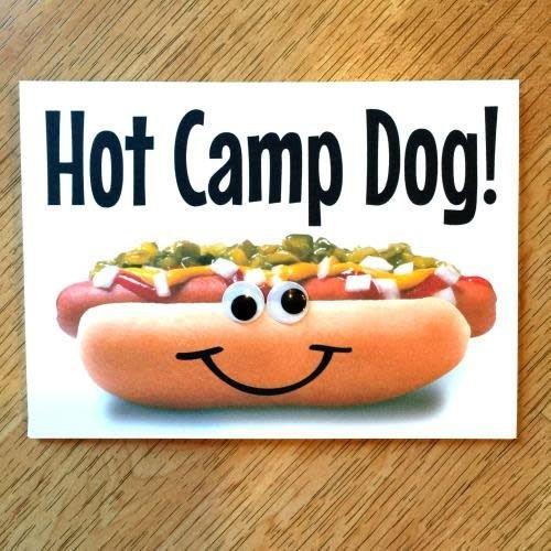 Hot Dawg Wiggly Eye Card