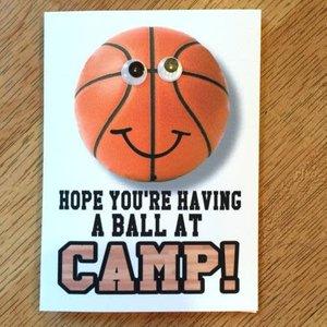 Basketball Wiggly Eye Card