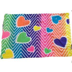 Rainbow Hearts Jersey Sheets