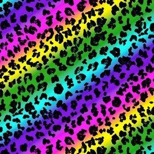 Rainbow Leopard Jersey Sheets