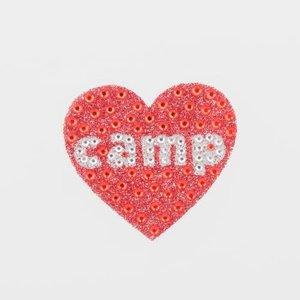 Red Camp Heart StickerBean