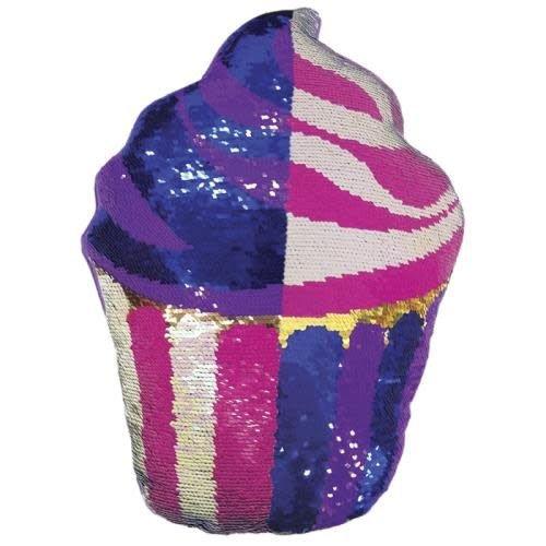 Cupcake Sequin Pillow