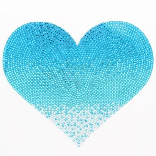 Jumbo Blue Heart Sticker Bean