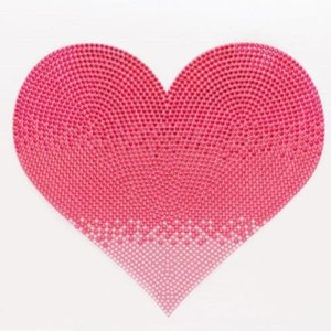 Jumbo Pink Heart Sticker Bean