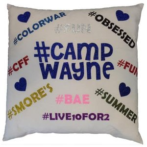 Glitter # Camp Pillow