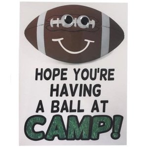 Football Wiggly Eye Card