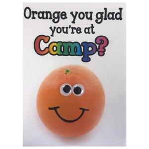 Orange Wiggly Eyes Card