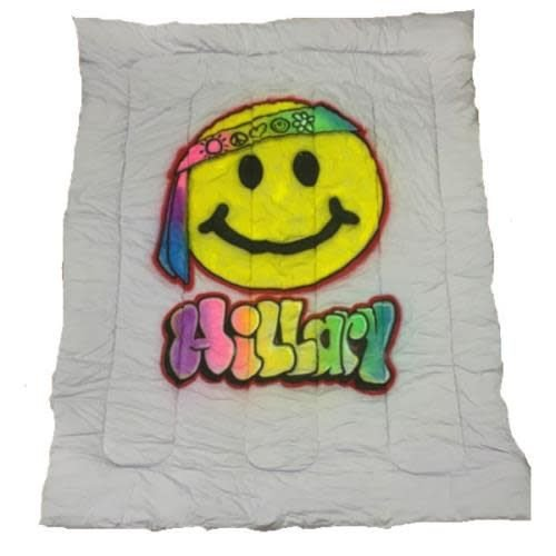 Hippie Emoji Airbrushed Comforter
