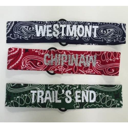 Bandana Camp Name Headband