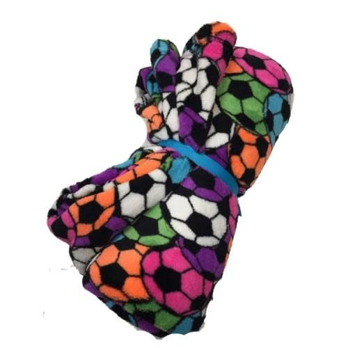 Neon Soccer Fuzzy Blanket