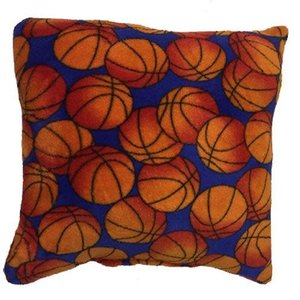 Basketballs Fuzzy Square Pillow