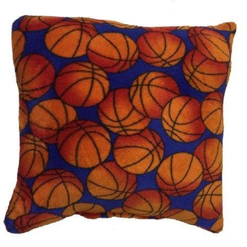 Basketballs Fuzzy Square Pillow