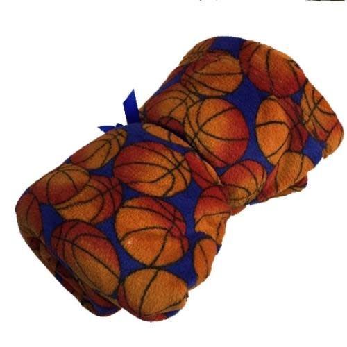 Basketballs Fuzzy Blanket