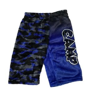 CCC Camp Royal/Grey Fuzzy Shorts
