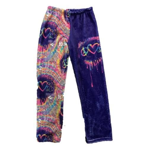 Peace Love Camp Fuzzy Pants