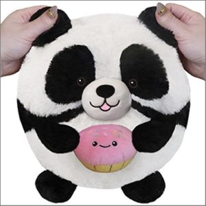 Panda Holding  a Cupcake Squishable