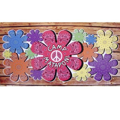 Bandana Flower Personalized Wall Cling