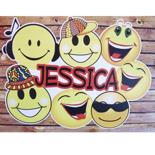 Smileys Personalized Wall Cling