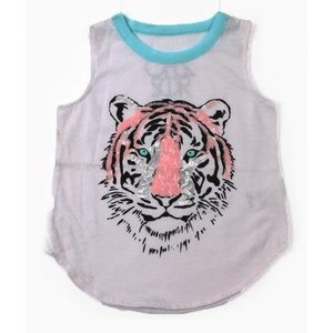 Sequin Tiger Muscle Tank