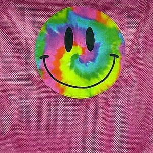 Pink Smiley Laundry Bag