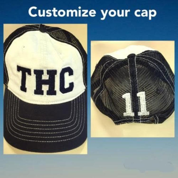 Custom Trucker Hat - Bee Bee Designs - Summer Camp Headquarters 560aa39d7ab