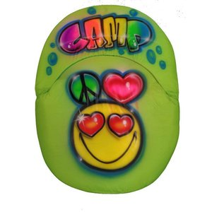 Peace, Heart and Emoji Airbrushed Ground Chair
