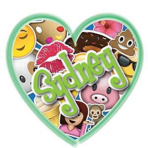 Emojis in Heart Personalized Cling