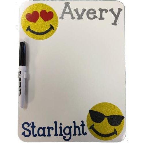 Glitter Emojis Dry Erase Board