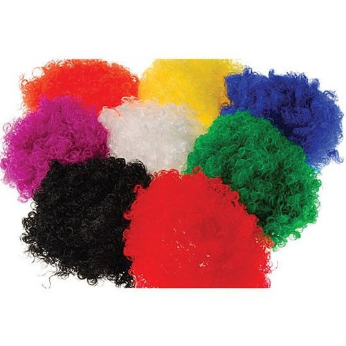 Curly Color War Wig