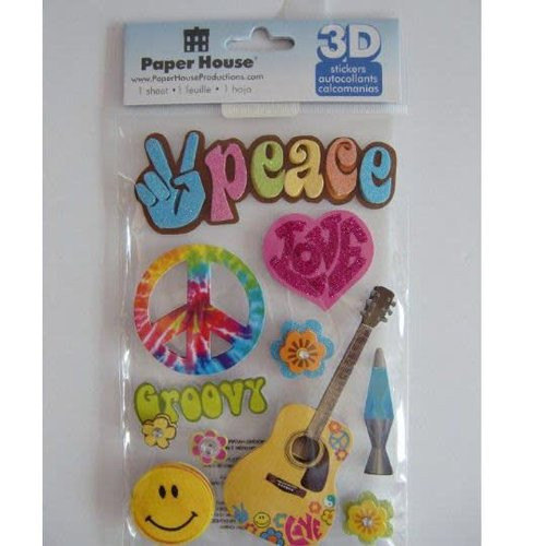 Peace 3-D Stickers