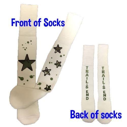 Camo Splatter Camp Name Socks