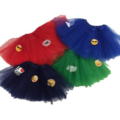 Custom Camp Logo Tutu with Smileys