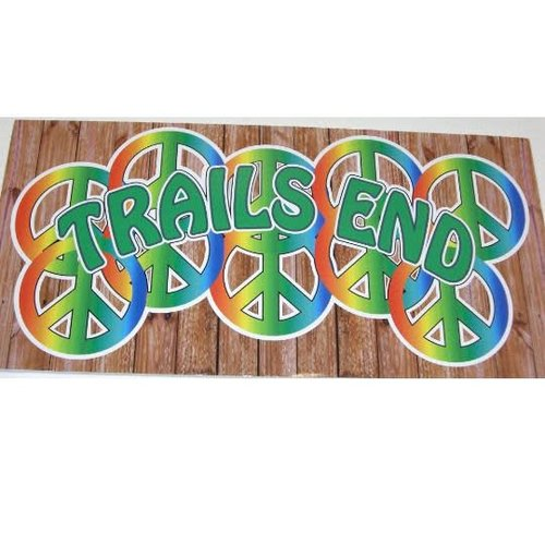Rainbow Peace Signs Personalized Cling