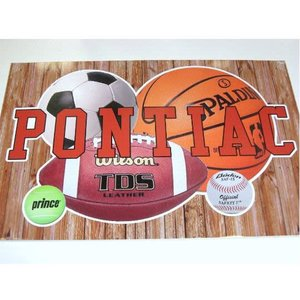 Sports Balls Personalized Cling