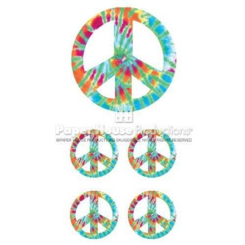 Tie Dye Peace Stickers