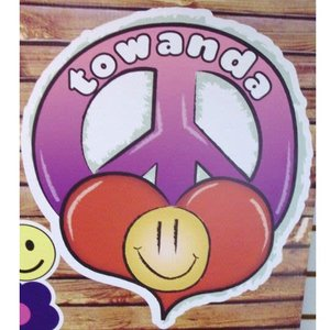 Airbrush Peace Personalized Cling