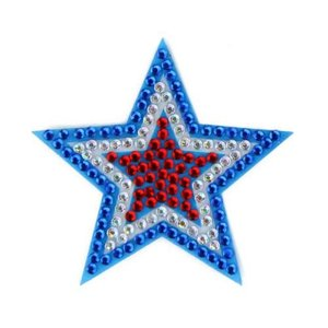 Red/White/Blue Star StickerBean