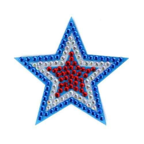 Red/White/Blue Star StickerBean