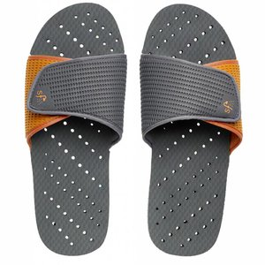 Gray and Orange Showaflop Slides