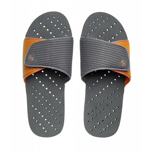 Gray and Orange Showaflop Slides