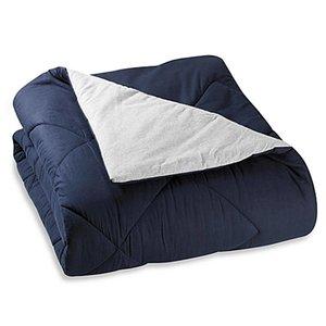 Reversible Gray/Navy Jersey Comforter