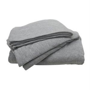 Gray 3-Piece Jersey Sheet Set