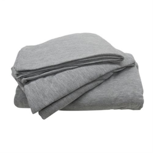 Gray 3-Piece Jersey Sheet Set