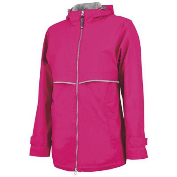 enjoy discount price prevalent online Hot Pink New Englander Rain Jacket