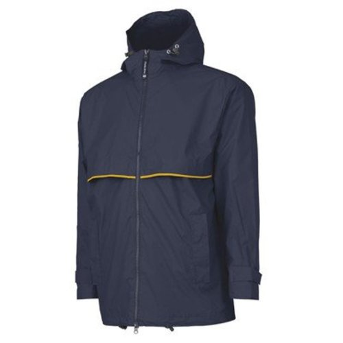 True Navy/Yellow New Englander Rain Jacket