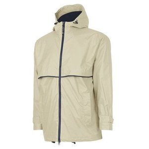 Taupe/Navy New Englander Rain Jacket